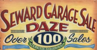 Picture of Garage Sale Daze sign