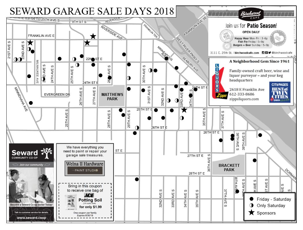 Garage Sale Maps Are Here Seward Neighborhood Group
