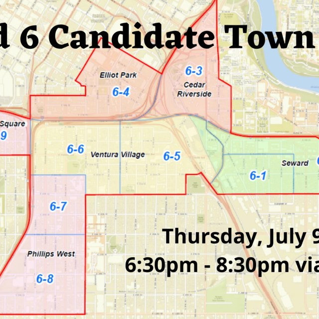 Picture of Ward 6 with neighborhood names.