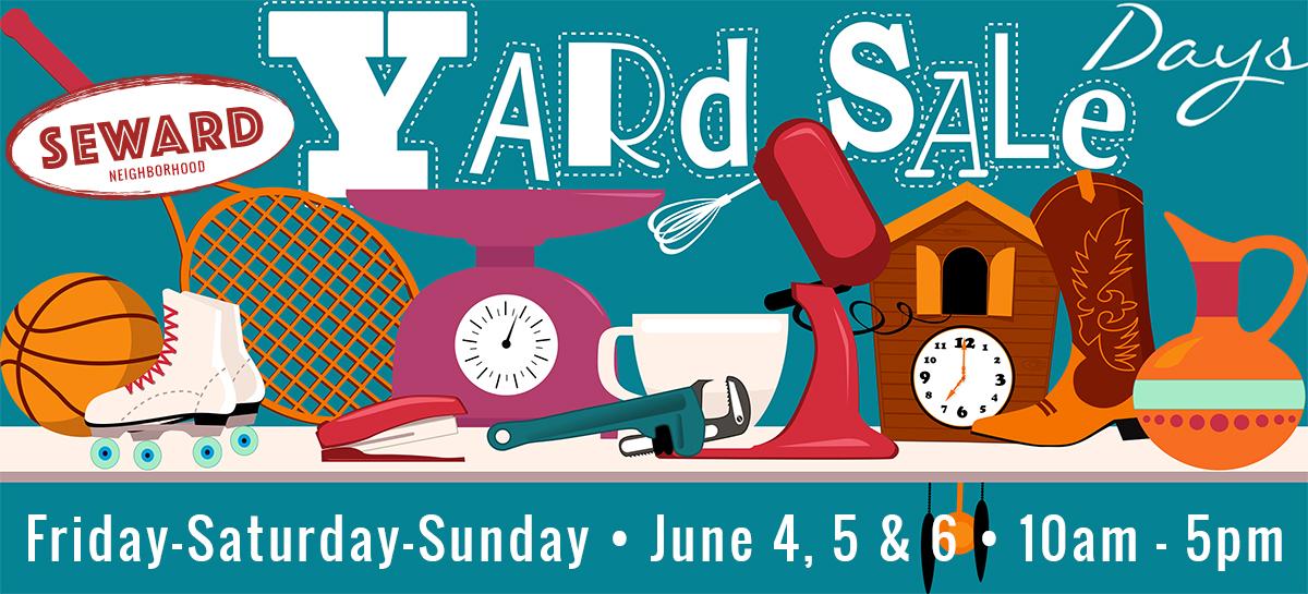 Seward Yard Sale Days June 4, 5, 6 2021